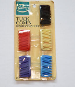 Vintage Goody Tuck Comb Hair Clips New in Package 1987