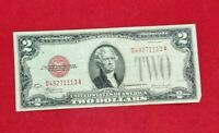 1928 $2 F Legal Tender Note Bill Red Seal CH VF 111 Digit repeat Serial Number