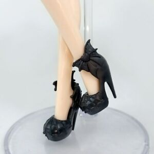 Black Spider Web Fashion Doll Shoes for Monster High Dolls High Heel Shoes Toys