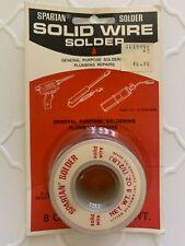 Solid Wire Solder 8 Oz 5 Pound General Purpose Plumbing Repair Vintage