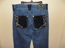 COOGI Men's Jeans Distressed Hip Hop Detailed  Pockets Size 34 X 34