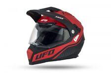 UFO Aries Tourer Crossover Helmet - Matt Black Red all Sizes