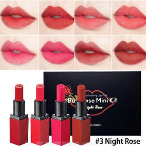 ETUDE HOUSE Dear My Blooming Lips Bad Rose Lipstick 4pcs Mini Kit #Night Rose