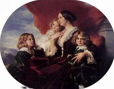 "Oil painting nice lady elzbieta branicka, countess krasinka and her children 36"""