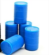 USA Plastic Blue Plastic Water Barrel - HO Scale 5-pack 870766