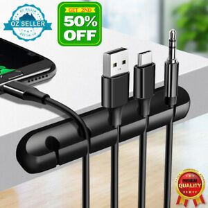 USB Charge Cable Organizer Holder Desk Cable Clips Cord Management