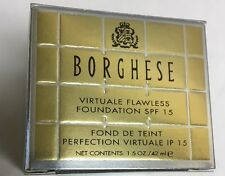 Borghese Virtuale Flawless SPF 15 Foundation BISCOTTO NEW BOXED