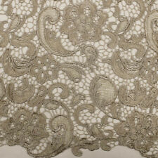Venice Light Wt Embroidered French Guipure Lace Fabric by the Yard - Style 5001