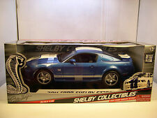 SHELBY COLLECTIBLES DIECAST METAL 1:18 SCALE BLUE 2011 FORD SHELBY GT350 MUSTANG
