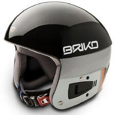 Briko Vulcano FIS Ski Race Helmet - Black, Small (54cm)