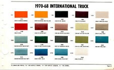 1963 1964 1965 1966 1967 1968 - 1970 INTERNATIONAL TRUCK SCOUT PAINT CHIPS ACROG