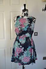 ANIMAL womens sleeveless summer beach mulicolor100% cotton dress size 12