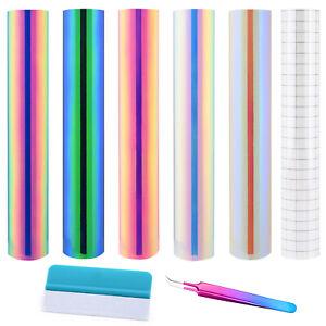 Hologramm Regenbogen Vinyl Klebefolie Transferband Jäten Handwerk Vinylaufkleber