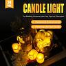 LED Teelichter 24er Set flammenlose Flacker Kerzen elektrisch Teelicht flackernd