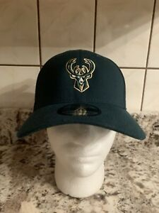 Milwaukee Bucks NEW ERA 39THIRTY STRETCH FIT Cap - Small/ Medium