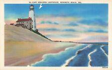 Postcard Cape Henlopen Lighthouse Rehoboth Beach Delaware