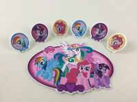 My Little Pony Friendship is Magic Cake Topper with Rings 7pc Lot Hasbro