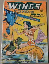 WINGS COMICS #83 (FICTION HOUSE, 1947) GOLDEN AGE!