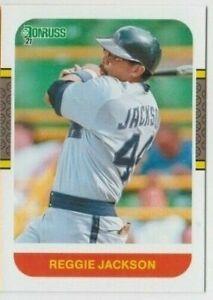 (10) Reggie Jackson 2021 DONRUSS RETRO 1987 CARD LOT #233 LOS ANGELES ANGELS