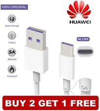 Original HUAWEI HL1289 5A USB-C Superschnelles Datenkabel Ladekabel P10 P20 Pro