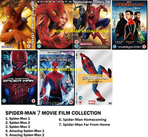 SPIDERMAN COMPLETE 1 2 3 4 5 6 7 MOVIE FILM DVD Amazing Homecoming Far From Home