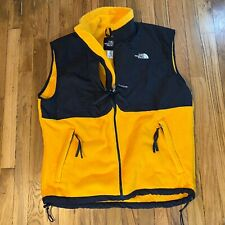 Vintage Men's L The North Face Full Zip Yellow Fleece Vest Made in USA