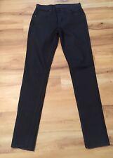 James Jeans Womens Black Glitter Sparkle James Twiggy Sz 25 NWOT Skinny Stretch