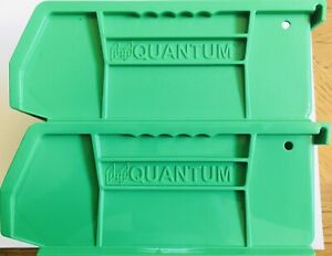 "2 Green Stackable Bullet/Cartridge Bin(Dillon/Hornady Presses)7-3/8""Lx4-1/8""Wx3"""