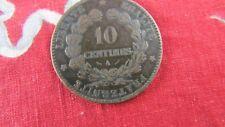 ancienne piece monnaie france 10 centimes  A 1881 bronze