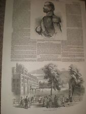 King William III Netherlands and Hague Palace 1849 prints ref AZ