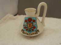 VINTAGE MODEL OF A JUG WITH LONG HANDLE  CRESTED KELSO BY FOLEY CHINA