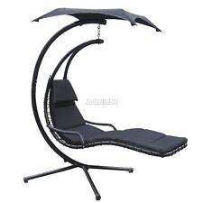 FoxHunter jardin balançoire hamac Hélicoptère Suspendu chaise siège soleil Noir