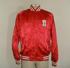 Vintage 80s SLUSH PUPPIE Mr. Cool Red satin nylon retro Jacket USA MADE L