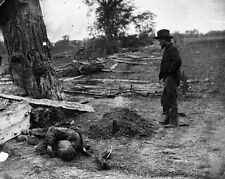 New 8x10 Civil War Photo: Union and Confederate Dead at Antietam - Sharpsburg