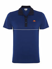 ellesse Men's Rovigo Tennis Polo - Buy 2 for White & Mazzerine Blue Large