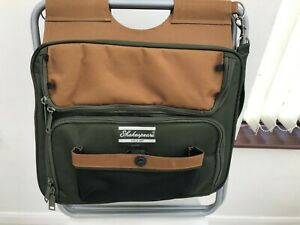 Shakespeare fishing seat tackle bag with strap