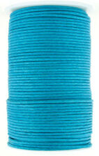 Turquoise Round Waxed Cotton Cord 1mm 100 meters