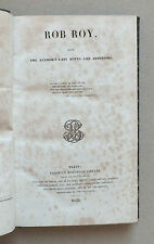 ROB ROY - WALTER SCOTT - COLLECTION OF BRITISH AUTORS VOL. X - 1838 *