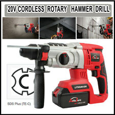 "1"" 20V Max Cordless Rotary Hammer Drill Impact Sds-Plus Brushless Li-Ion Battery"