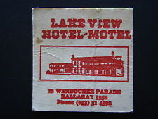 LAKE VIEW HOTEL-MOTEL 22 WENDOUREE PDA BALLARAT 053 314592 COASTER