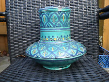 Isnik Iznik Pottery Vase Art Pottery Turkish Vase signed on base Ghini