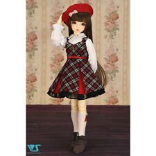 Volks Oct Collection 2015 Super Dollfie Girly Plaid Dress Set Mini MSD SDM MDD