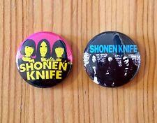 SHONEN KNIFE (BAND) - SET OF 2 BUTTON PIN BADGES (25mm)