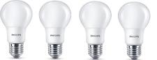 4x Philips LED E27 Birne Lampe 8.5W = 60W warmweiß 2700K Leuchtmittel matt Plast