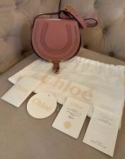 New Chloe Mini Marcie Leather Crossbody Shoulder Bag Rusty Pink Rose Pink NWT!!!