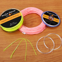 WF 1/2/3/4/5/6/7/8/9WT Fly Line Combo 100FT Fly Fishing Line Backing Leader