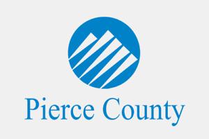 Aufkleber Pierce County (Washington) Fahne Flagge 30 x 20 cm Autoaufkleber