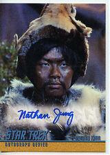 Star Trek Nathan Jung A84 Mint Autographed Card 1998 TOS S3  Genghis Kahn Z3