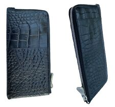 Exclusive ALEXANDER McQUEEN TRAVEL WALLET Samsonite BLACK LABEL Leather Black