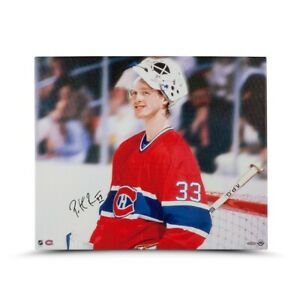 """Patrick Roy Signed Autographed 20X24 Canvas Photo """"Beginnings"""" Canadiens UDA"""